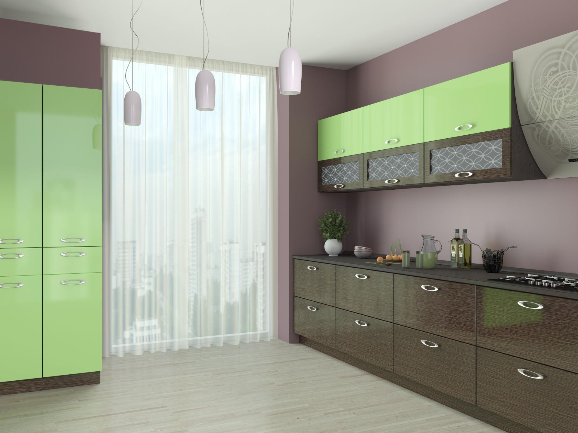кухня фреш цвета на фото простой крой